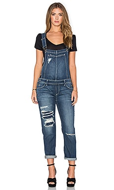 Paige Denim Sierra Overall in Williams Destructed