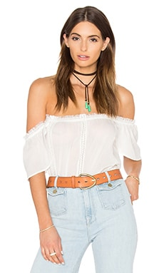 Paige Denim Lucille Top in White