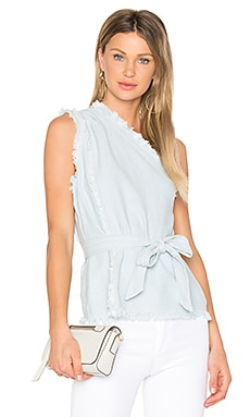 x Rosie HW Emmanuelle Top en Light Wash Blue