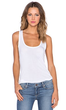 Paige Denim Jessa Tank in Optic White