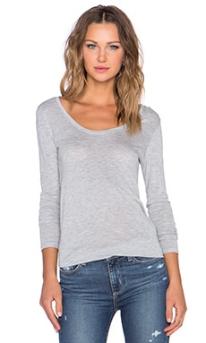 Paige Denim Myra Tee in Light Heather Grey