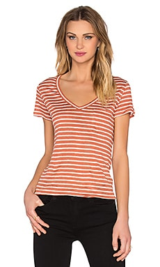 Paige Denim Lynnea Tee in Bruschetta & White Stripe