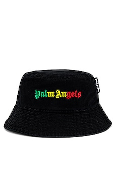 Miami Logo Bucket Hat Palm Angels $200