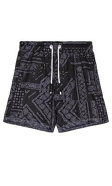 Bandana Mesh Shorts Palm Angels $385 NEW