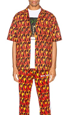 Burning Bowling Shirt Palm Angels $291