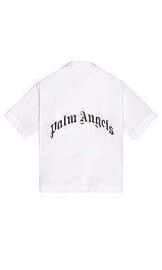 Curved Logo Bowling Shirt Palm Angels $289