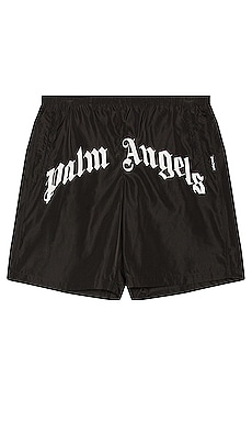 Curved Logo Swim Short Palm Angels $315