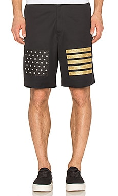 Palm Angels Flag Shorts in Dark Blue Multicolor