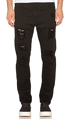 Palm Angels Ripped Denim Regular Fit in Black