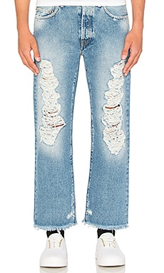 Palm Angels Ripped Denim in Vintage Wash