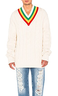 Palm Angels Tennis Sweater in White
