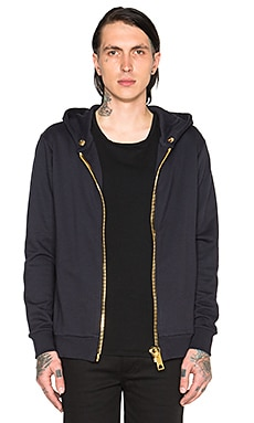 Maxi Pullover Hoody Zip Sweatshirt in Dark Blue