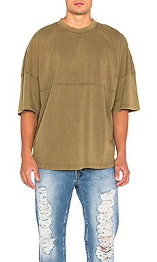 Palm Angels Basic Tee in Military Green