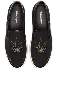 Palm Angels Slip On Tuxedo in Black/Gold