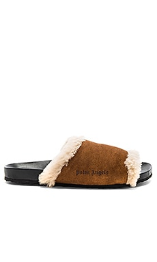 Shearling Sliders