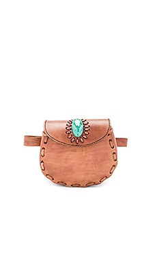 Darlene Fannypack With Turquoise in Brown