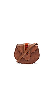 Tarata Crossbody Bag With Red Tab in Brown