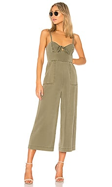 Knot Front Strappy Jumpsuit Pam & Gela $295 BEST SELLER