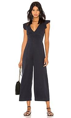 Ruffle Sleeve Laced Back Jumpsuit Pam & Gela $80