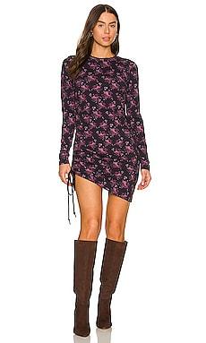 Ditsy Shirred Dress Pam & Gela $165 NEW