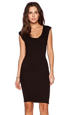 Pam & Gela Muscle Dress in Black