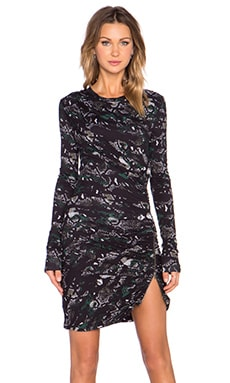 Pam & Gela Twisted Zip Dress in Camo