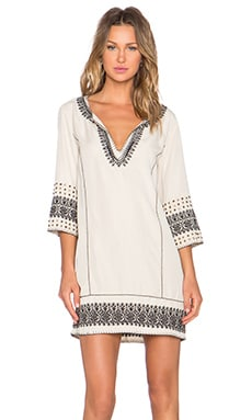 Pam & Gela Embroidered Tunic in Ecru