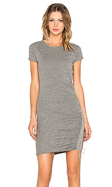 Pam & Gela Lace Up Dress in Heather Grey