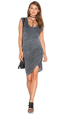 Scoop Neck Ruched Dress in Pigment Navy