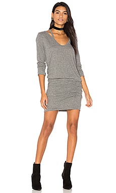 Split V Neck Dress