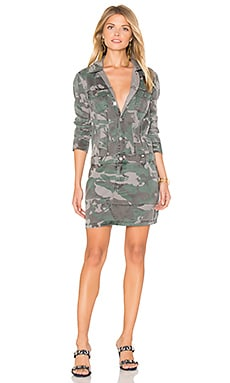 Button Up Dress in Camo