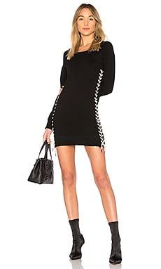 Фото - Платье со шнуровкой - Pam & Gela черного цвета