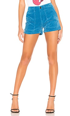 Mid Rise Patch Pocket Shorts Pam & Gela $47