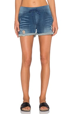 Pam & Gela Drawstring Short in Indigo Wash