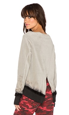 Pam & Gela Annie Sweatshirt in Brown Earth Dip Dye
