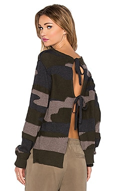 Pam & Gela Tie Sweater in Camo