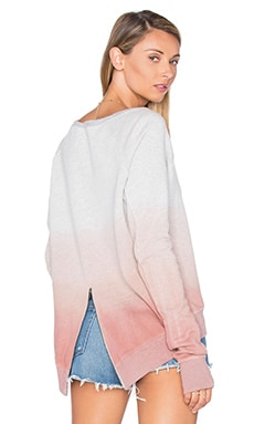 Annie Hi Low Sweatshirt in Mauve Dip Dye