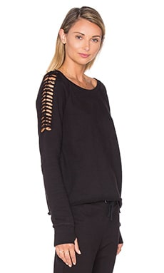 Pam & Gela Cutoff Sweatshirt in Black