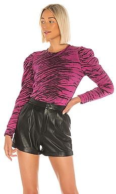 Tiger Puff Sleeve Sweatshirt Pam & Gela $102
