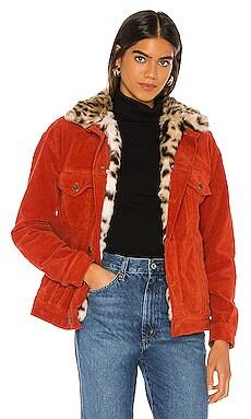 Oversized Faux Leopard Jacket Pam & Gela $277
