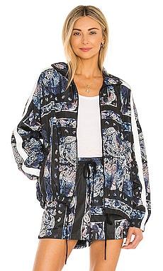 Bandana Stand Collar Jacket Pam & Gela $265