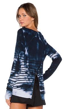 Pam & Gela Annie Sweatshirt in Stripe Tie Dye