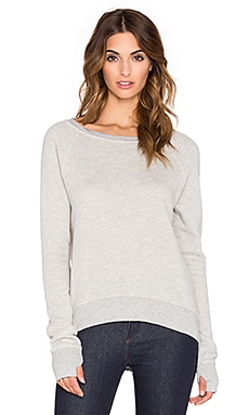 Pam & Gela Annie Hi Lo Sweatshirt in Heather Grey