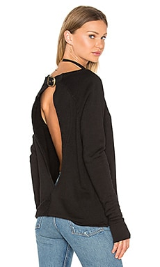 Pam & Gela Twist Back Sweatshirt in Black