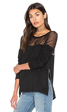 Mesh Sweatshirt in Black