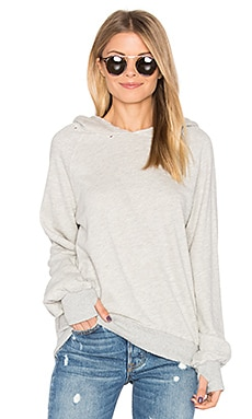 Hollywood Hobo Hoodie in Heather Grey