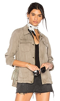 Cargo Jacket With Side Ties in Sea Grass