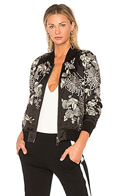 Silky Embroidered Bomber