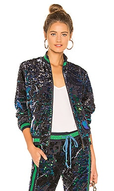 Sequin Velour Track Jacket Pam & Gela $273