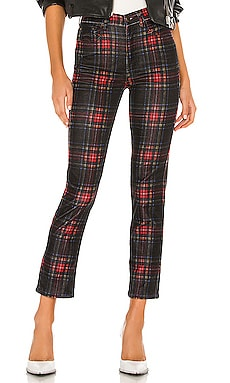 Tartan Plaid Slim Crop Pant Pam & Gela $92